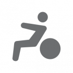 Dooleys Health and Fitness Person on Exercise ball Icon