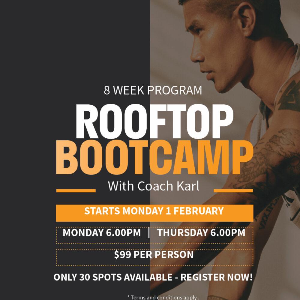 8 Week Rooftop Bootcamp – Register here!